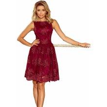 d116c3bbafa Společenské dámské šaty středně dlouhé krajkové bordó