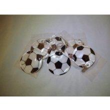 Přívěsek na klíče Reflexní prvky pro děti míč na tašku stříbrný 2942ms