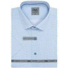 e12596c4bbbe AMJ košile Style Slim s krátkým rukávem Modrá