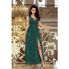 f27df553e895 Dámské dlouhé šifonové maxi šaty s rozparkem 166-5 lahvově zelená