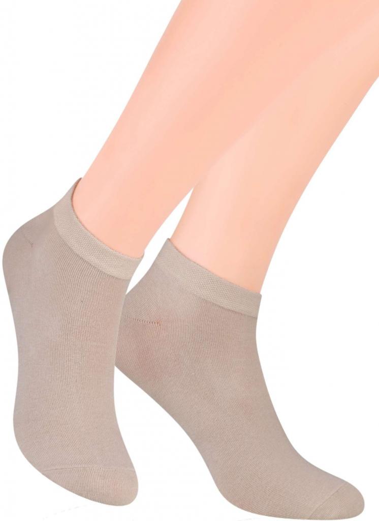 Steven pánské kotníkové ponožky jednobarevné 045 hnědá světlá od 68 Kč -  Heureka.cz 7ba78330de