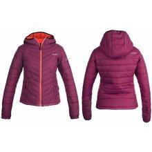 HI-TEC Lady Nera dámská prošívaná zimní bunda s kapucí fialová