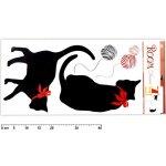 Anděl Přerov - Pokojová dekorace černé kočky 69x32 cm, 937