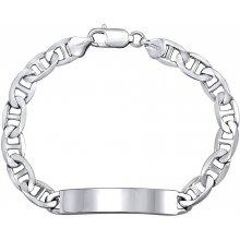 Silvego stříbrný náramek MARINE ID rhodiovaný TTTA3TP180