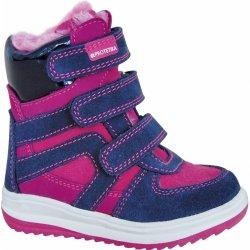 9b8a6ad252e Protetika Ebony - růžovo-modré. Protetika Dívčí zimní boty ...