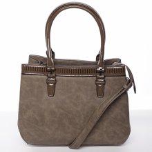 moderní dámská kabelka Kornel šedá hnědá 8113edf6422