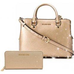 f266a63185 Michael Kors Saffiano kabelka a peněženka Zlatý set alternativy ...