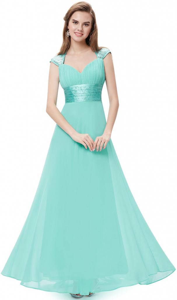 f749c6466807 Plesové šaty Ever Pretty plesové dlouhé šaty s flitry tyrkys ...