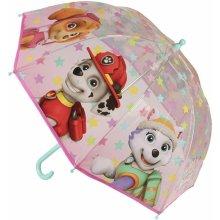 Disney Brand Dívčí deštník Paw Patrol růžový
