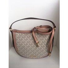 Michael Kors Julia Monogram Signature Handbag Vanilla/ballet