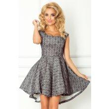 0407b2703a13 Numoco dámské společenské a plesové šaty exkluzivní Pianka 571 s  asymetrickou sukní krátké s černou krajkou