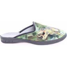 Befado chlapecké pantofle 707Y385 zelené