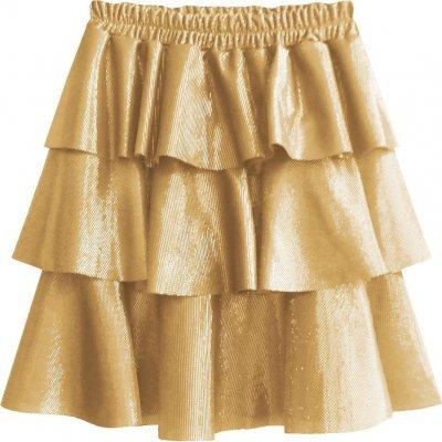 Lesklá mini sukně 508ART zlatá