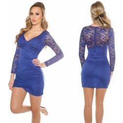 Mini šaty s krajkou a nařasením Koucla královsky modré od 929 Kč ... b96504a971