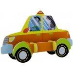 Robotime dřevěná skládačka Taxi střední