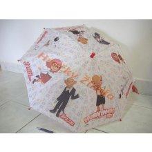 Deštník Hurvínek 3D látkový automatický 56cm v sáčku