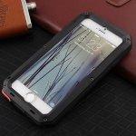 Pouzdro SES EXTRÉMNĚ odolné hliníkovo-silikonové Apple iPhone 5 5S SE - černé