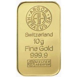 Argo Heraeus Zlatý slitek 10 g