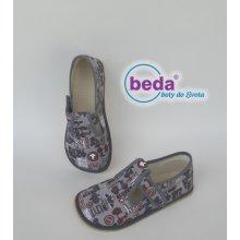 BEDA BAREFOOT - BF 060010/W Šedá nápisy