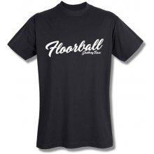 Style T Shirt Floorball Černá