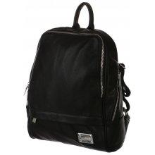 Glara prostorný batůžek 161349 se zipy černá