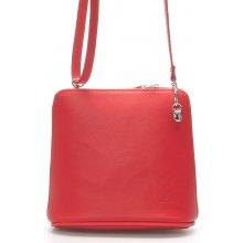 kabelka kožená crossbody 10053 červená 3b09b3315cc