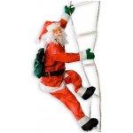 Vánoční dekorace - Santa Claus na žebříku - 240 cm OEM M02060