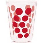 Zak!designs 1278 1221 Dvoustěnná sklenka BOROSILICATE Dot Dot 0,35l