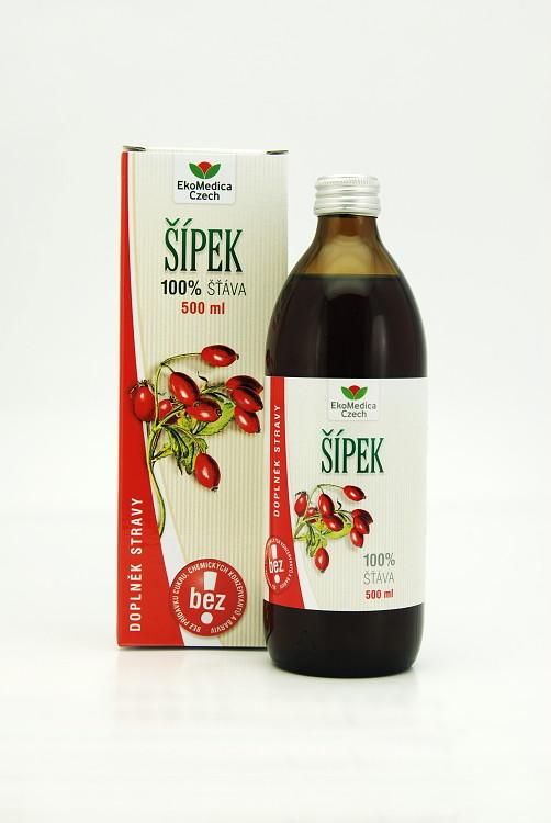EkoMedica Czech Šípek - 100% šťáva ze šípku 500 ml