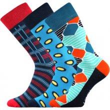 6b3229ecde1 Lonka Barevné ponožky Woodoo mix E pánské ponožky barevné