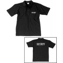 Mil Tec Security Black s potiskem Polo Shirt Mens