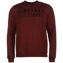 Firetrap Salva Crew Sweater Burgundy