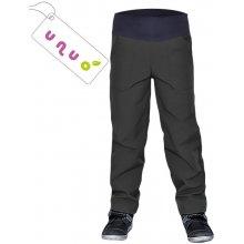 Unuo dětské softshellové kalhoty BASIC tm.šedé/antracit