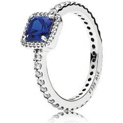 Pandora Třpytivý stříbrný prsten s modrým krystalem 190947NBT od 1 ... 09c24e714d9