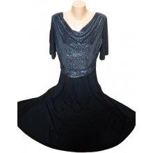 Společenské šaty pro plnoštíhlé - černé