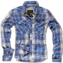 Pánské košile Pánská+modrá+kostkovaná+košile 9e0fabbd99