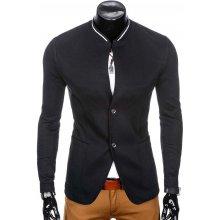 Pánské mikinové sako bez límce Alfredo černá