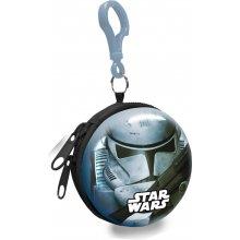 Euroswan Dětská kovová peněženka s karabinou Star Wars Stormtrooper