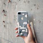 Pouzdro MAOXIN Plastové Apple iPhone 7 Plus - kreslené kaktusy