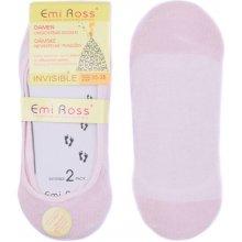 Emi Ross dámské neviditelné ponožky do balerín růžová