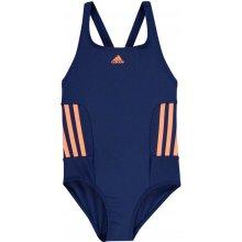 Adidas EC3 Swim Suit Girls M Blue Orange