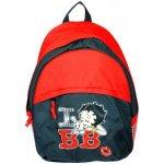 Betty Boop batoh I love BB černo-červený