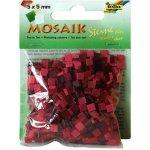 Folia Mozaika plastová 5 x 5 mm Červená
