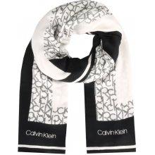Calvin Klein černo-bílý šátek Geo Quilt Scarf Black 99c64f99f0