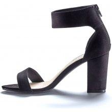 Blancheporte Semišové sandály na podpatku černá