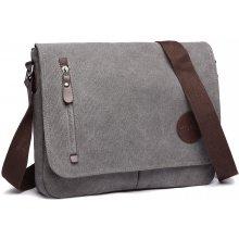 c41087efb9 Kono kvalitní taška přes rameno E1824 šedá