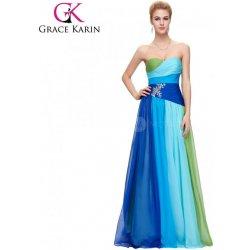 Grace Karin dlouhé plesové šaty OMBRE CL6069-1 Modrá alternativy ... 36b430e4af