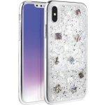 Pouzdro Uniq Hybrid iPhone XS/X Lumence Clear - Periwinkle stříbrné