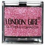LONDON GIRL Flitrové oční stíny Mono Světle růžové GLITTER Eyeshadow 07 4,5 g