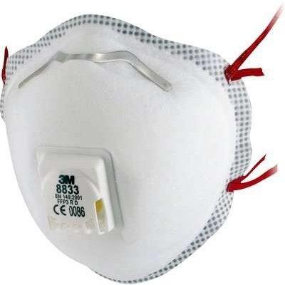 3M 8833 FFP3 Filtrační polomaska s ventilkem